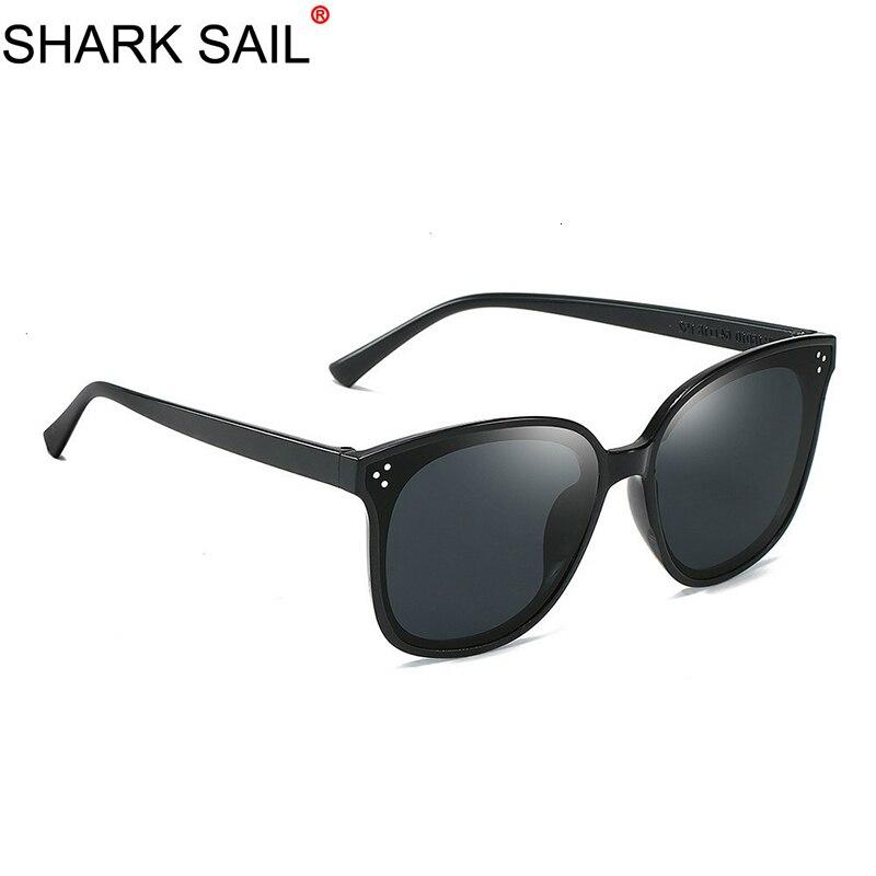 SHARK SAIL New Arrival Round Sunglasses Coating Retro Men Women Brand Designer Sunglasses Vintage Mirrored Glasses Eyewear