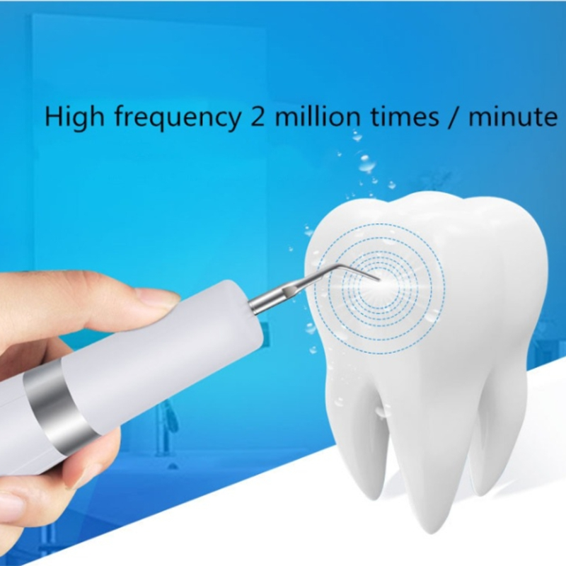 Home Ion Waterless Ultrasonic scaler Tooth Cleaner Dental Calculus Remover Dental Scaling Tools Electric Portable Scaler