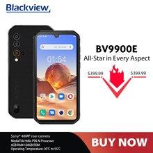 Blackview bv9900e helio p90 áspero smartphone 6gb + 128gb android 10 ip68 à prova dnágua 4380mah 48mp câmera nfc novo 4g telefone móvel