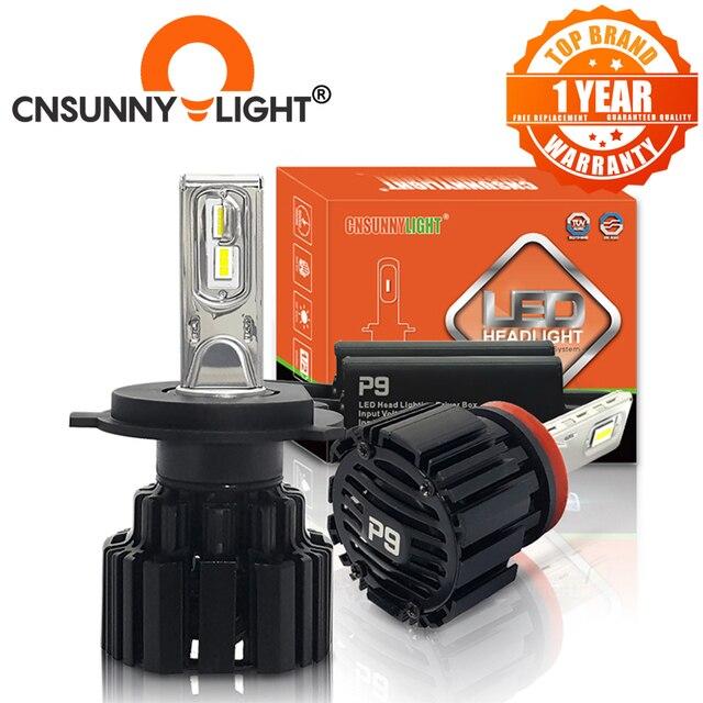 CNSUNNYLIGHT супер яркий светодиодный головной фонарь, H7 H11/H8 9005/HB3 9006/HB4 9012 D1/D2/D3/D4 H4 H13 45 Вт 6800Lm/Лампа 6000K чистый белый