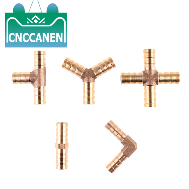 Pipe Adapter Straight 2-Way Brass Barbed Pipe Connector Tube Joiner Fitting 6//8//10//12//14//16//20mm 20mm 1pcs Straight Barbed Connector