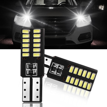 1pcs T10 led auto lamp car from CANBUS w5w 4014  24smd 8W 6000K light emitting diodes independent bulb excellent producto white 4pcs car bulb canbus error free ba9s t4w h6w led white 4014 24smd 4 8w led automotive light lamp 12v parking 57 233 w6w t11