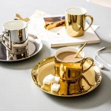 Prosty skandynawski złoty i srebrny ceramiczny talerz zachodni talerz talerzyk deserowy patelnia do steków na filigranki f