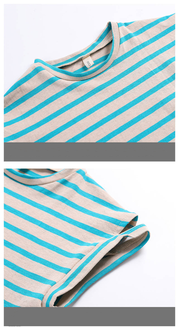 Clothing Sets - Striped Short Sleeve T-Shirt + Pants