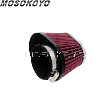 цена на Motorcycle 48mm/52mm Air Intake Cone High Flow Filter Cleaner Universal For Yamaha Kawasaki Honda Suzuki CBR CBF GSXR GXR