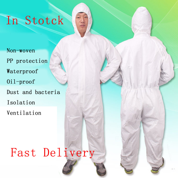 Waterproof Rain Cover Non-woven Protection Suit Disposable Protective Clothing Overall Suit Work Jumpsuit With Pants