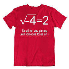 T-shirt en coton pour homme, jeu de maths, cadeau fantaisie