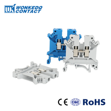 цена на Din Rail Terminal Blocks 10Pcs UK-5N Instead of PHOENIX CONTACT Universal Class Connector Screw Terminal Block UK5N