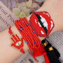 Go2boho сексуальный браслет для губ женщин miyuki стеклянные