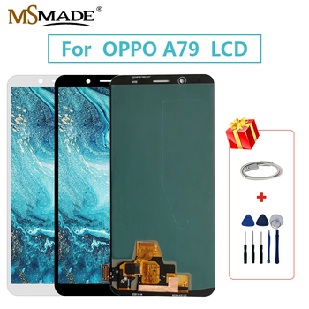 """6.0"""" Super AMOLED For OPPO A79 LCD Touch Screen Display Digitizer Display Replacement Assembly Parts Free Shipping 100% Tested"""