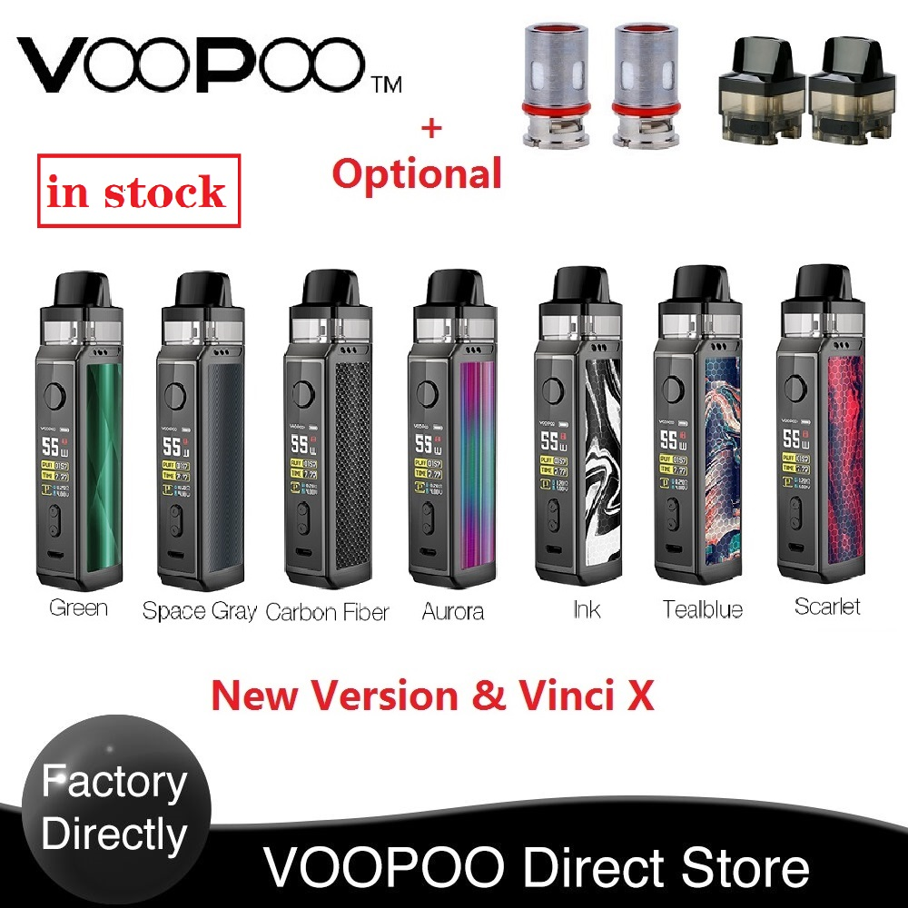 New Original VOOPOO VINCI X 70W Pod Kit Dual-coil System 0.96-Inch Screen Powered By One 18650 Battery Vape Kit Vs Vinci Mod Kit
