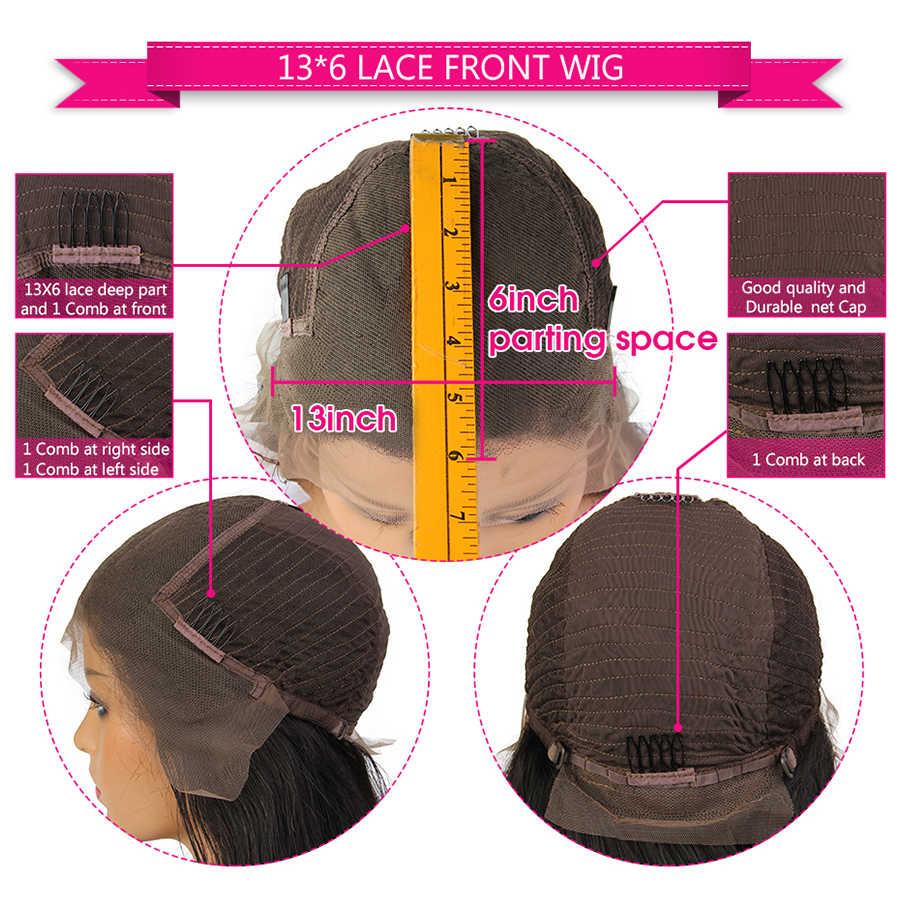 Perucas sintéticas do laço do cabelo 13*6 da cor preta do cabelo de yomagic com o cabelo do bebê em linha reta perucas curtas do laço do bob com pre arrancadas