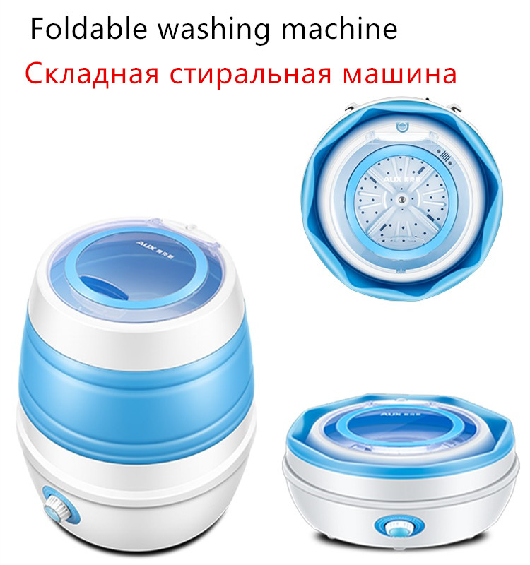 220V Semi-automatic Foldable Electric Washing Machine Mini Portable Clothes Shoes Washer For Office Travel School EU/AU/UK/US