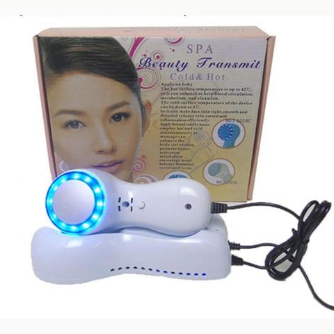 Aparelho de limpeza facial martelo azul gelo luz fria calmante gelo terapia fria instrumento equipamentos
