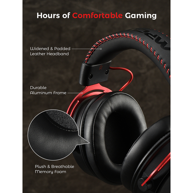 Air SE Gaming Headset Wired Surround Sound Gaming Headphones with Noise Cancelling Mic In-Line Control for PC 4