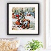 Diy Diamond Painting Scenic Snowman Full Square Rhinestones Picture Cartoon Embroidery Sale Home Decor Gift