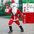 Костюм мужской для косплея Санта-Клауса, белый маскарадный костюм для взрослых, Рождественский, детский