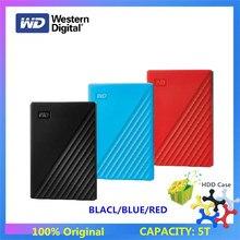 Большая емкость! Внешний жесткий диск Western Digital WD My Passport, 5 ТБ, USB 3,0, защита паролем, портативный мобильный жесткий диск