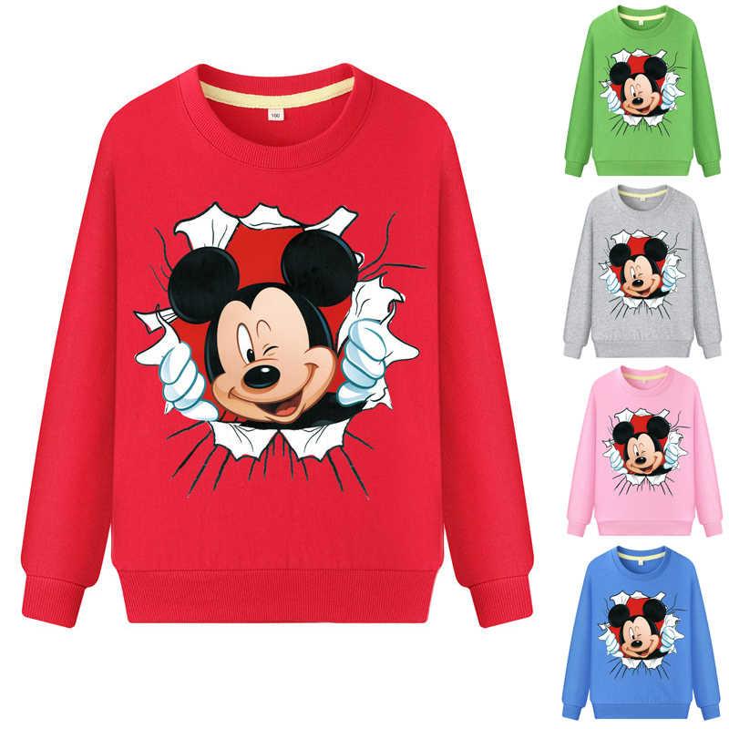Новая одежда для маленьких девочек весенние хлопковые свитшоты с длинными рукавами для активных девочек с героями мультфильмов детская одежда для девочек, свитер для мальчиков, унисекс
