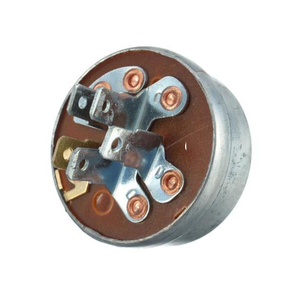 Прочный стартовый переключатель зажигания с 5 контактами, универсальный с ключом, легкая установка, газонокосилка для трактора, инструмент...