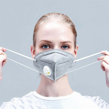 10-50pcs Gray Anti Dust Mask PM2.5 Activated Carbon Filter Face Mouth Masks Reusable PPE Mouth Cover Anti Fog Haze Respirator