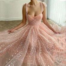 Pink A Line Prom Dresses Sweetheart Sleeveless Tulle Formal Wedding/Evening Party Dress for Graduation Vestidos De Fiesta