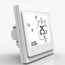 WiFi inteligentny termostat regulator temperatury do wody elektryczne ogrzewanie podłogowe woda kocioł gazowy współpracuje z Alexa Google Home Tuya tanie tanio CN (pochodzenie)