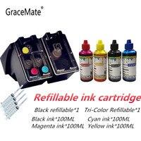 Substituição Do Cartucho de tinta recarregáveis para HP 121 XL para Hp Deskjet D2563 F4283 F2423 F2483 F2493 F4213 F4275 Impressora