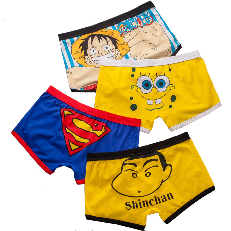 Cartoon SpongeBob Totoro Shorts Boxers For Men Panties Funny Underpants Boxer Shorts Homme Cotton Mens Underwear Trunks