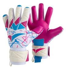 4mm Latex Predator Goalkeeper Gloves No Finger Protection Soccer Goalie Gloves Professional Kids Adult