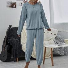 Mais tamanho 2 peça conjunto feminino sweatsuit outono 2020 roupa feminina lounge wear camisas de pelúcia e roupas de moletom 2 pcs conjunto para mulher