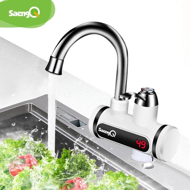 Saengq display de temperatura instantânea torneira de água quente tankless elétrica torneira de água instantânea quente aquecedor de água de aquecimento de água 2