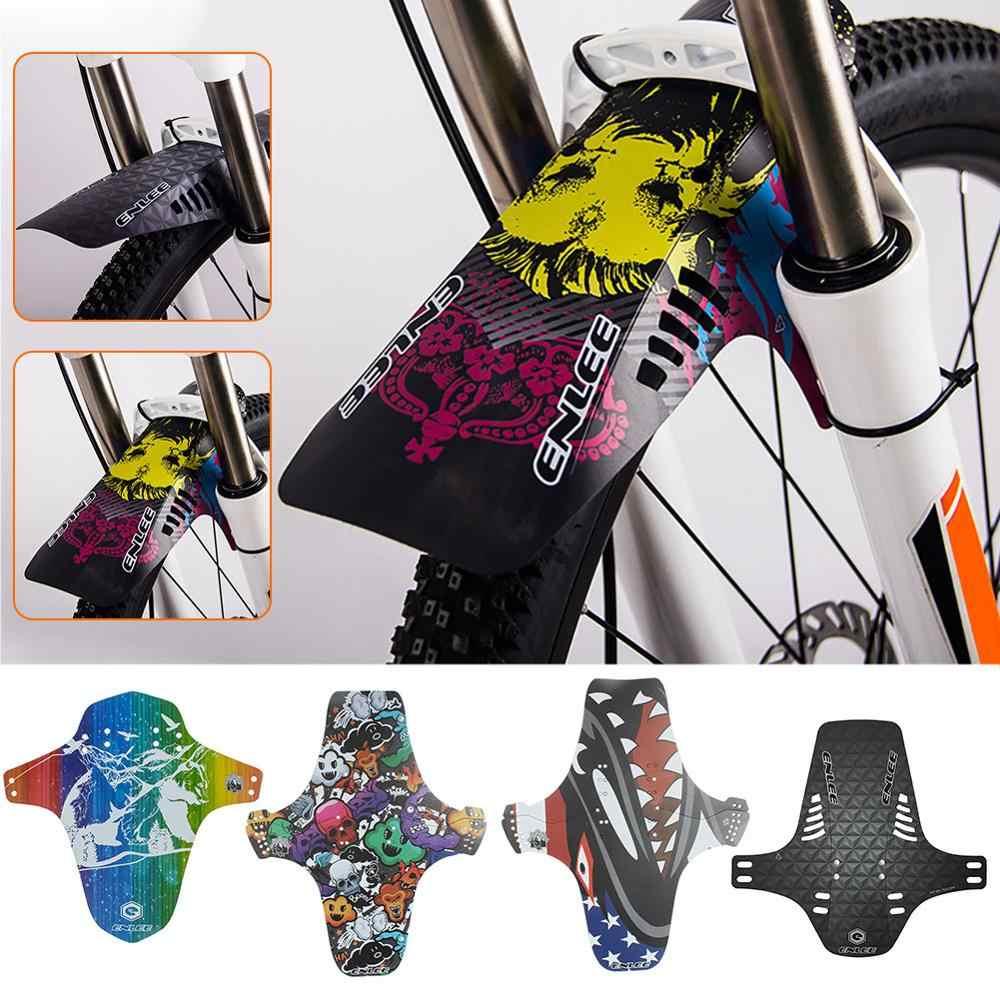 Bicycle Fender MTB Mudguard Graffiti Bike Front Fork Rear Wheel Bicycle Parts