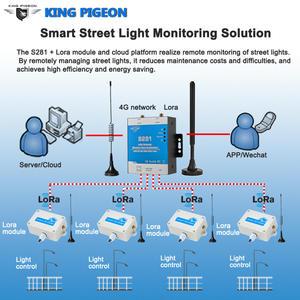 Smart Street Light Monitoring Solution Lora Gateway Supports GSM 3G 4G Modbus RTU