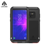 Case For Samsung Galaxy Note 8 9 3 LOVE MEI Powerful Metal Armor Shockproof Aluminum Phone Case For Samsung Note 9 4 / Edge / FE