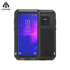 Image 1 - Caso Per Samsung Galaxy Note 8 9 3 AMORE MEI Potente Metallo Armatura Antiurto In Alluminio della Cassa Del Telefono Per Samsung Note 9 4/bordo/FE