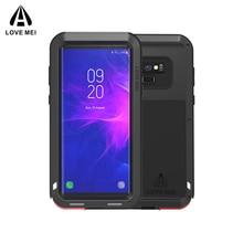 Samsung kılıfı Galaxy Not 8 9 3 AŞK MEI Güçlü Metal Zırh Darbeye Dayanıklı Alüminyum Telefon samsung kılıfı Not 9 4/Kenar /FE