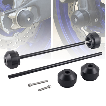 Front Rear Axle Fork Wheel Protector Sliders For YAMAHA MT-09 FZ-09 MT09 MT 09 FZ09 2017-2020 18 19 Motorcycle Accessories Cap 2020 front rear axle fork crash sliders for yamaha mt 07 mt07 fz 07 mt 09 fz 09 mt 07 09 motorcycle accessories wheel protector