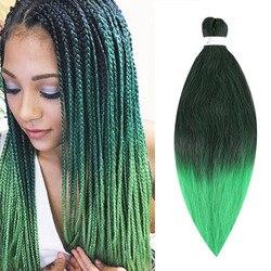 Saisity-Extensions de tresses Xpression, cheveux synthétiques pré-tendues, cheveux au Crochet, 20 pouces, 75 g/paquet, en Fiber de basse température