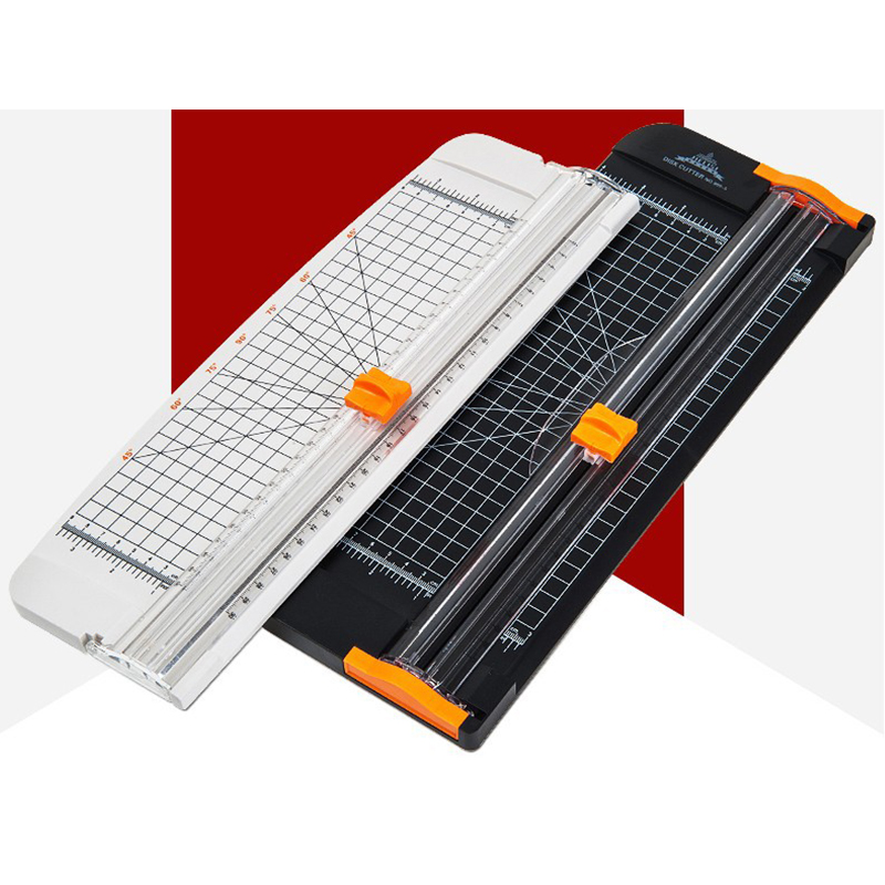 A4 Paper Cutter Paper Cutter 909-5 Paper Cutter Straight Knife Guillotine Ruler Film Cutter Paper Knife Slide Knife Black White