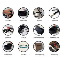 9PCS A Set of Black Nylon Necklace 9-Piece Bracelet, Foot Ring, Tail Whip Eye Mask Mouth gag