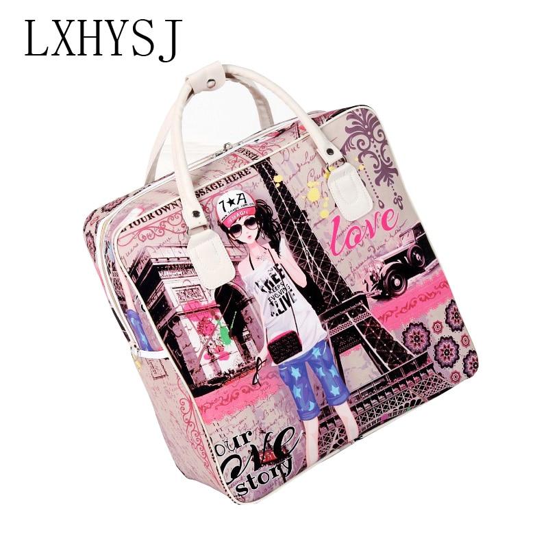 New Cartoon Women Travel Bags Leisure Waterproof Hand Luggage Bag High Capacity Ladies Travel Bag