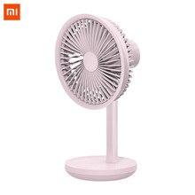 Xiaomi Solove Usb 5w Настольный вентилятор 4000 Mah Usb зарядка 3 скорости ветра охлаждающий осциллятор черный/розовый/белый вентилятор