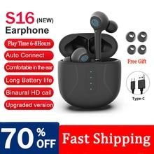 Sports Earbuds Microphone-Gaming-Headset Headphones Waterproof Tws Bluetooth Huawei Xiaomi