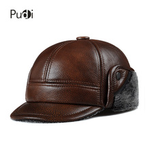HL104  genuine leather men baseball cap hat CBD high quality  men's real leather adult solid adjustable hats caps цена в Москве и Питере
