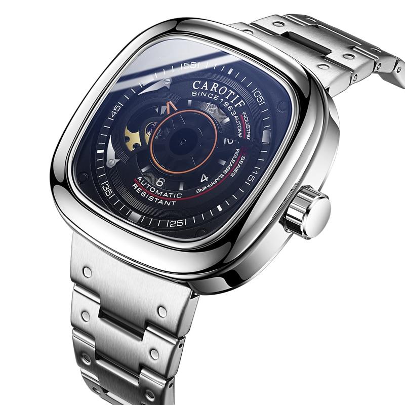 Top qualité luxe plein acier hommes montres Montre automatique Mechancal montres hommes Reloj Hombre affaires Montre homme