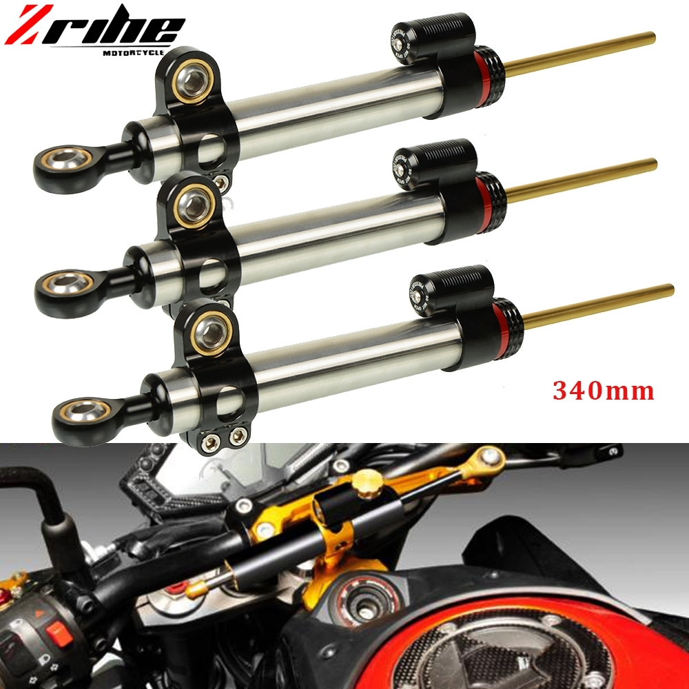 ZRIHE Universal Motorcycle Adjustable Steering Damper Stabilizer For KTM Duke 390 BMW F800GS Ducati Monster Kawasaki Versys 650