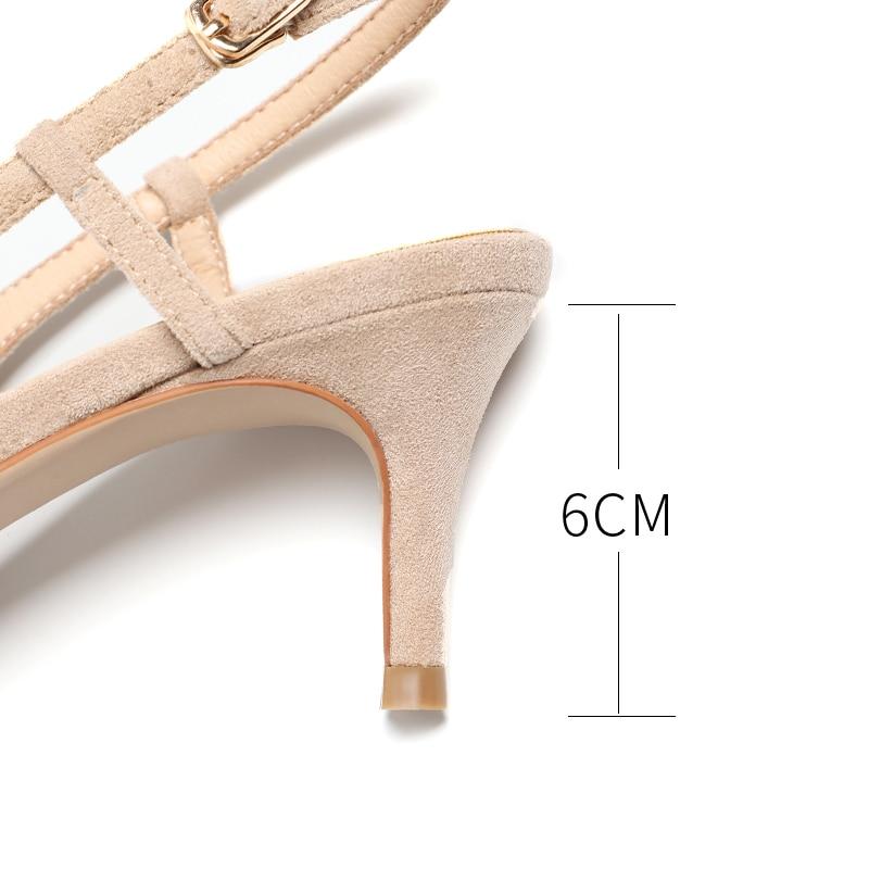 Woman's Spring 6cm Thin High Heels Slingbacks 6