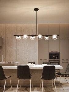 Image 3 - Moderne LED Kronleuchter Glas ball Lampen Restaurant bar Hängen lichter Nordic esszimmer dekoration suspension leuchten