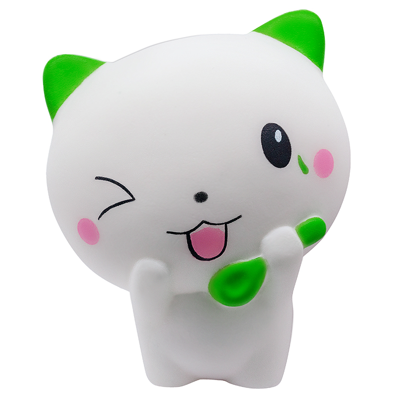 2020 Cute Cartoon Milk Cat Kitty Squishy Slow Rising Soft Squeeze Toys Cream Scented Stress Relief For Kid Xmas Gift 12*11CM